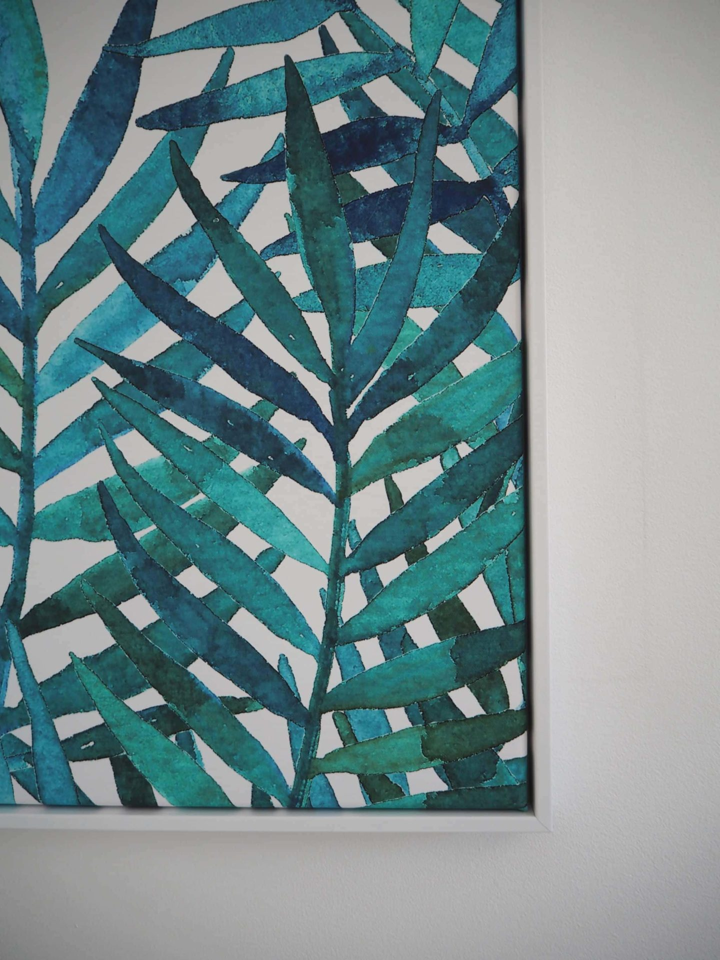 Poster Lounge Water Colour Palm Leaves Print Close Up